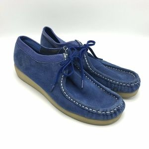 PENNY LOVES KENNY Blue Suede Moccasin Loafer Shoes
